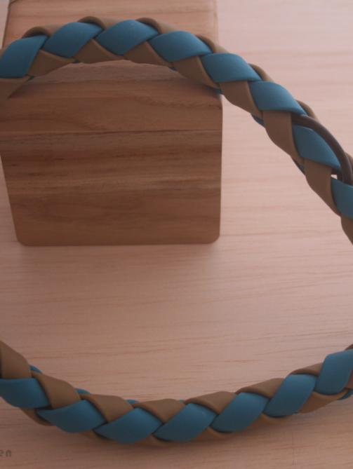 Biothane Zugstopphalsband geflochten
