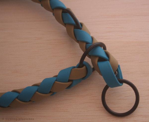 2-farbig geflochtenes Zugstopphalsband