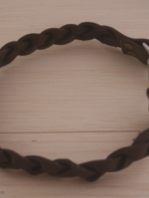 Braunes Biothane Halsband